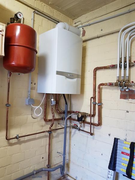 Plaatsing condensatie ketels